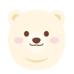 白熊顔イラスト