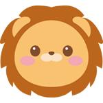 ライオンの顔イラスト
